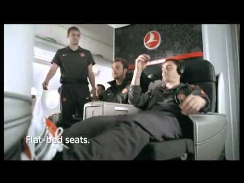 Turkish Airlines Business Class for Stars featuring Manchester United